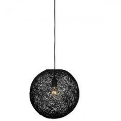 Hanglamp Abaca Middel Zwart