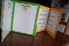DIY quiet activity file folders. These are great for kids during church. there is a link on my blog where you can print them yourself.