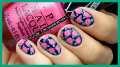 Easy Rose Print Nails (with just a toothpick!)