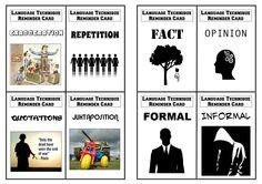 Language techniques revision flashcards for AQA GCSE English reading exam (8 of 36)