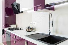 Bucătărie Grape - Mobilier La Comandă - Fabrică București Sink, Kitchen, Design, Home Decor, Sink Tops, Vessel Sink, Cooking, Decoration Home, Room Decor