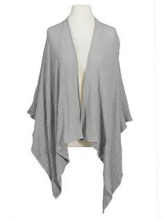 Damen Cape Baumwolle, grau von fashion made in italy bei www.meinkleidchen.de
