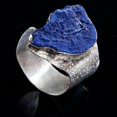 Paloma Sanchez, Brazil: Azurite (Australia) on Silver Cuff
