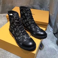 Women's Louis Vuitton ankle boots Black monogrammed women's ankle boot in size Never worn Louis Vuitton Shoes Ankle Boots & Booties Louis Vuitton Combat Boots, Lv Heels, Playboy, Black Ankle Boots, Bootie Boots, Monogram, Booty, Shoes, Recherche Google