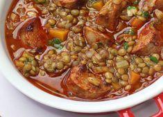 Lentilles au chorizo WW, recette d'un bon plat rassasiant très délicieux, simple et facile à réaliser et idéal pour un repas hivernal qui plaira à tous.