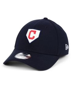 on sale 90c7f a4928 New Era Cleveland Indians The Plate 39THIRTY Cap - Blue M L