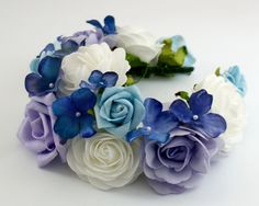 Kwiatowa opaska / wianek na głowę w Lola White na DaWanda.com #niezchinzpasji