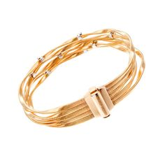 Marco Bicego Marrakech Yellow Gold 5 Strand Diamond Bracelet | From a unique collection of vintage more bracelets at http://www.1stdibs.com/jewelry/bracelets/more-bracelets/
