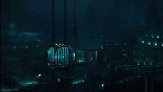 Bioshock 2. Environment Concepts and Design Pitches by Opus Artz.