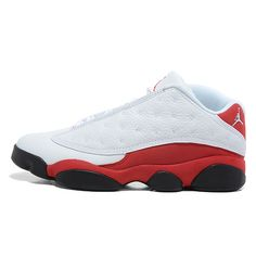 the best attitude f0084 b7ace 310810-105 Air Jordan 13 Retro Low White Red Real Jordans, Retro Jordans 13