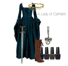 Camelot❤️ by hannahmgore on Polyvore featuring Jennifer Behr, women's clothing, women's fashion, women, female, woman, misses and juniors