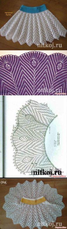 Юбка крючком ЛЕТНЯЯ » Ниткой - вязаные вещи для вашего дома, вязание крючком, вязание спицами, схемы вязания