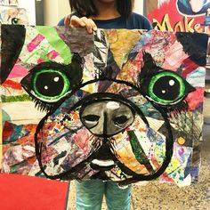 Our first project this year has been a very progressive, multi step, multi media project that has really evolved as we created! Our first pr. 6th Grade Art, Ecole Art, School Art Projects, Collaborative Art, Art Lessons Elementary, Art Lesson Plans, Art Classroom, Art Club, Art Plastique