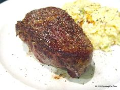 101 Cooking For Two - Everyday Recipes for Two: Pan Seared Oven Roasted Filet Mignon. Used this for our Father's Day dinner...great easy recipe to follow. I've never cooked filet before....came out great!