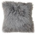 Moe's Home Collection Lamb Faux Fur Polyester Throw Pillow