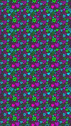 Hello Wallpaper, Heart Iphone Wallpaper, Cellphone Wallpaper, Pretty Backgrounds, Pretty Wallpapers, Wallpaper Backgrounds, Colorful Backgrounds, Vintage Flowers Wallpaper, Cute Patterns Wallpaper