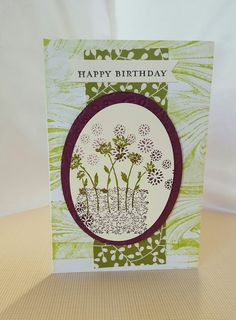 Handmade Birthday card using Stampin Up products UK marbled background stamp set Handmade Birthday Cards, Handmade Cards, Marble Board, Community Boards, Digi Stamps, Stampin Up, Backgrounds, Happy Birthday, Paper Crafts