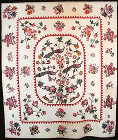 Broderie Perse applique quilts from the 1812 era