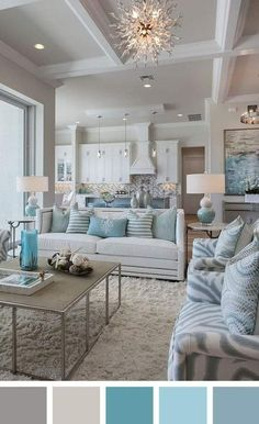 10 Gorgeous and Modern Chic Home Decor Ideas to Improve in Many Ways 10 Gorgeous and Modern Chic Home Decor Ideas to Improve in Many Ways - GoodNewsArchitecture. 10 Gorgeous and Modern Chic Home Decor Ideas to Improve in Many Ways - GoodNewsArchitecture Coastal Living Rooms, Home Living Room, Living Room Designs, Coastal Cottage, Cottage Living, Coastal Style, Ceiling Design Living Room, Living Room Paint, Coastal Homes