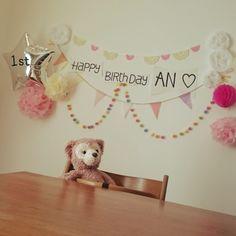 誕生日パーティーにピッタリなかわいい小物の作り方と飾り方♡