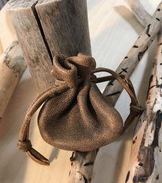 Drawstring Leather Sack Pouch Bag, Medicine Bag, Men's Pouch, Leather Coin Pouch Bag, Distressed Leather Bag by Shirlbcreationstoo