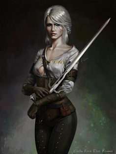 Cirilla Fiona Elen Riannon – The Witcher 3 fan art by Emanuel Mendez The Witcher Wild Hunt, The Witcher Game, The Witcher Geralt, Witcher Art, Dark Fantasy Art, Fantasy Artwork, Female Character Design, Character Art, Fantasy Characters