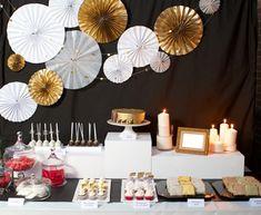 50th Birthday, Birthday Celebration, Happy Birthday, Wedding Reception Program, Ideas Aniversario, Birthday Party Decorations, Table Decorations, Candy Bar Wedding, Table Set Up