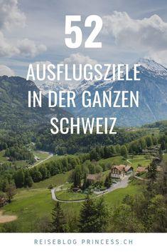 Entdecke über 50 Ausflugsziele in der ganzen Schweiz. Graubünden, Zentralschweiz, Tessin, Zürich, Bern, Westschweiz und in der Ostschweiz. Zahlreiche Ausflugstipps vom wandern über Städtereisen bis hin zu Wellness. Lass dich mit Reise-Tipps inspirieren! Zermatt, Wellness, Skiing, Road Trip Destinations