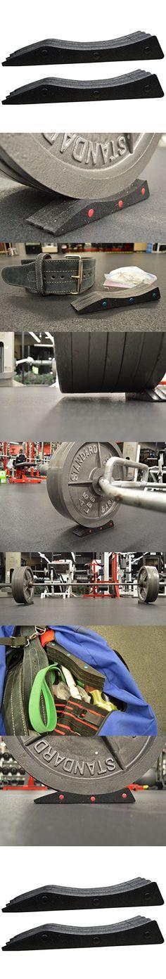Deadlift Wedge LIFT-EZ Portable Barbell Jack for Powerlifting, Weightlifting, CrossFit, Gym (Black, 2 EZ Wedges)