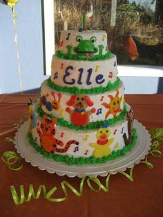 Baby Einstein First Birthday Cake! - COOKING
