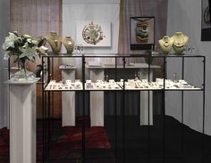 Lesley Aine McKeown Abstracta Modular Display. Sleek lines showoff her jewelry. visit, www.abstracta.com for more info. #boothdisplay #jewelrydisplay