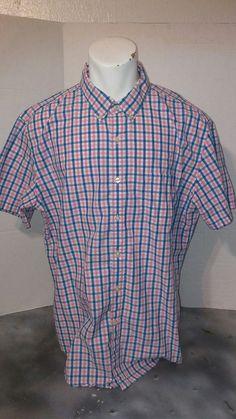uk availability 05a5e 8d36e J crew pink white blue checkered short sleeve shirt 100% cotton  JCREW