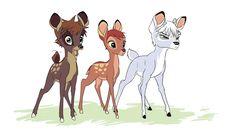 Destiny Island trio as deer