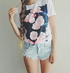 So tumblr, much grunge // I'm about to make this shirt too // tumblr outfits // clothes