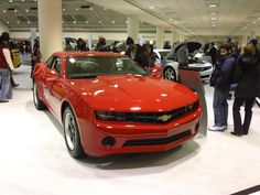 2012 Cherry Red Chevrolet Camaro at the 2012 Baltimore Auto Show