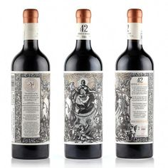 42 - Orpheus & the Raven on Packaging of the World - Creative Package Design Gallery Wine Bottle Design, Wine Label Design, Wine Bottle Labels, Beverage Packaging, Bottle Packaging, Pinot Noir Wine, Wine Brands, Wine And Spirits, Fine Wine