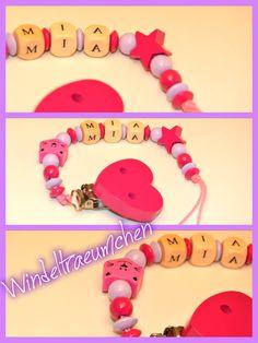 Schnullerkette Katze #birl #baby #pink
