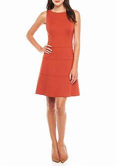 AK Anne Klein Seamed Drop-waist Dress