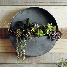 Roost Orbea Zinc Circle & Half-Circle Planters *Next Day Shipping*