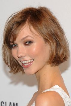 Victoria's Secret model Karlie Kloss' (pictured) cute, soft jaw length bob as one of the must-have looks for the season