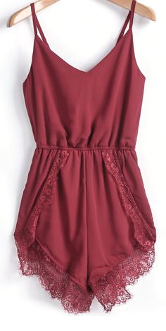 I love wearing rompers around the house after I wear work clothes all day! Burgundy romper,75% OFF!