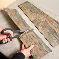 Aspect 5.9 x 23.6-inch Weathered Quartz Peel and Stick Stone Backsplash