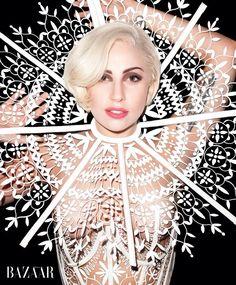 Lady Gaga for Bazaar . 2014