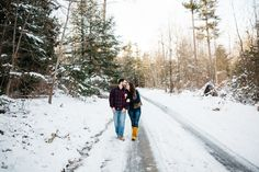 Jan & Nick // Snowy Michaux State Forest Engagement » EarthMark Photography