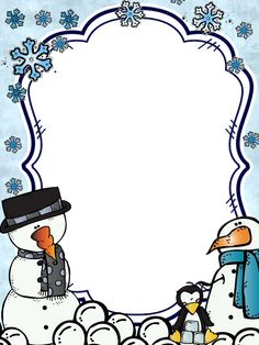Penguin Clipart, Cute Clipart, Frame Clipart, Borders And Frames, Borders For Paper, Christmas Arts And Crafts, Christmas Drawing, School Frame, Christmas Clipart