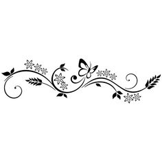 Tribal Butterfly Tattoo, Butterfly Bracelet, Side Foot Tattoos, Small Tattoos, Mural Floral, Tattoos To Cover Scars, Baby Shower Templates, Page Borders Design, Decorative Lines