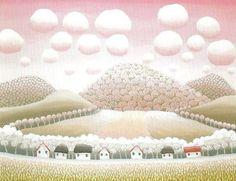 molto rosa Henri Rousseau, Ivan Rabuzin, Modern Art, Contemporary Art, Naive Art, Visionary Art, Landscape Paintings, Landscapes, Teaching Art