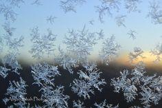 Snowflakes car window sunrise photography