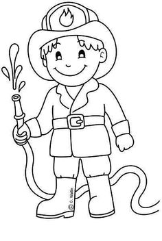 Preschool Coloring Pages, Coloring Pages For Boys, Colouring Pages, Coloring Books, Art Drawings For Kids, Drawing For Kids, Easy Drawings, Community Helpers Crafts, Community Workers