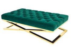 Como Emerald ottoman